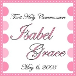 Communion Favor Tags