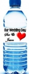 Wedding Water Bottle Labels w/Water