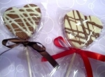 Chocolate Wedding Lollipops