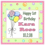 1st Birthday Tags
