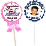 Graduation Swirl Lollipops