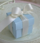 #EE01BC - Blue Favor Box