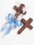 Chocolate Cross Lollipops
