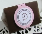 #EE010KC - Chocolate Monogram