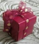 #EE01HB - Burgundy Favor Box